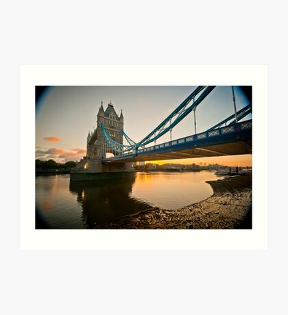 Sunrise at Tower Bridge. London. UK. Art Print