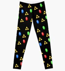 Triforce and Rupees Pattern - Zelda Leggings