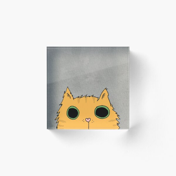Psycho Cat Acrylic Block