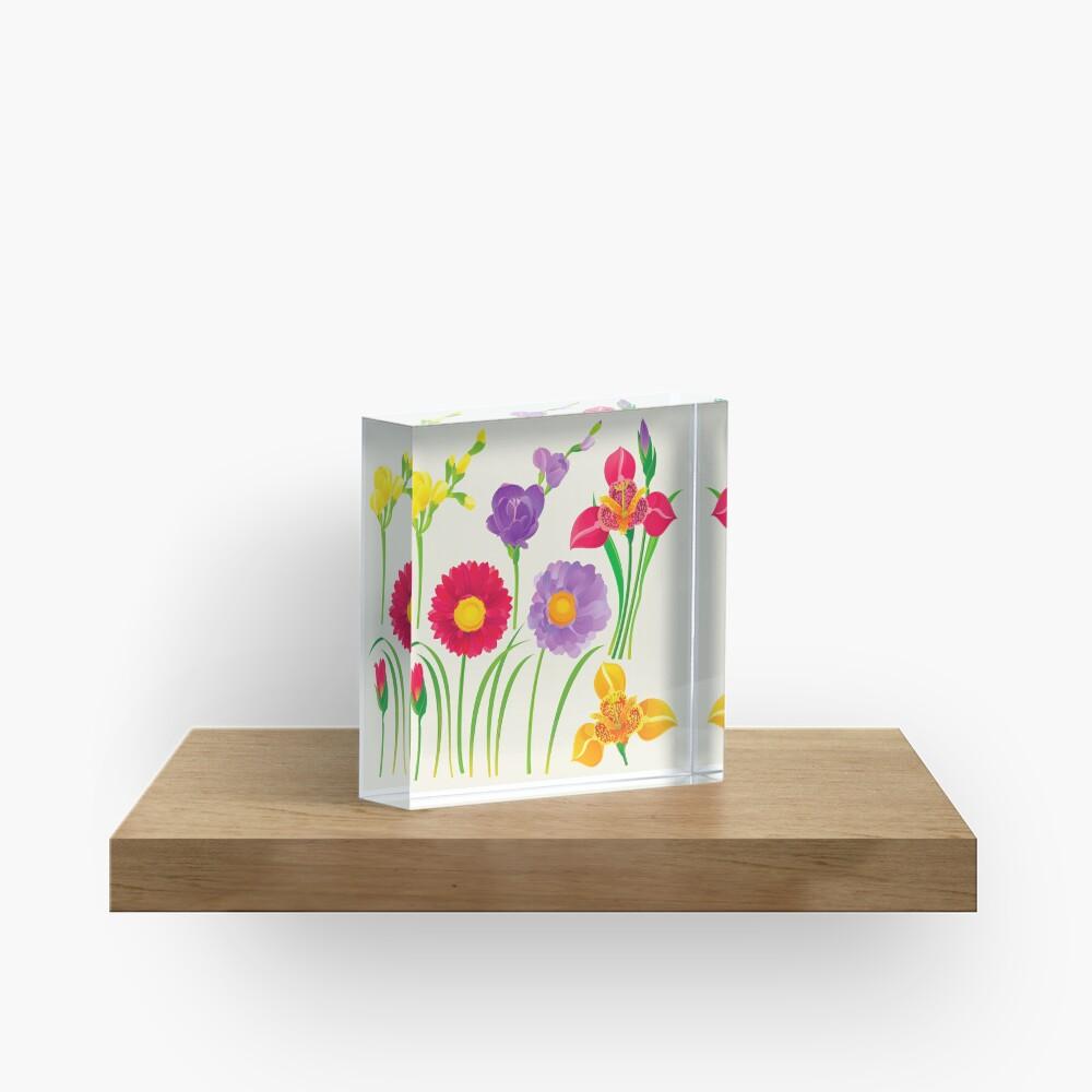Spring Flowers Acrylic Block
