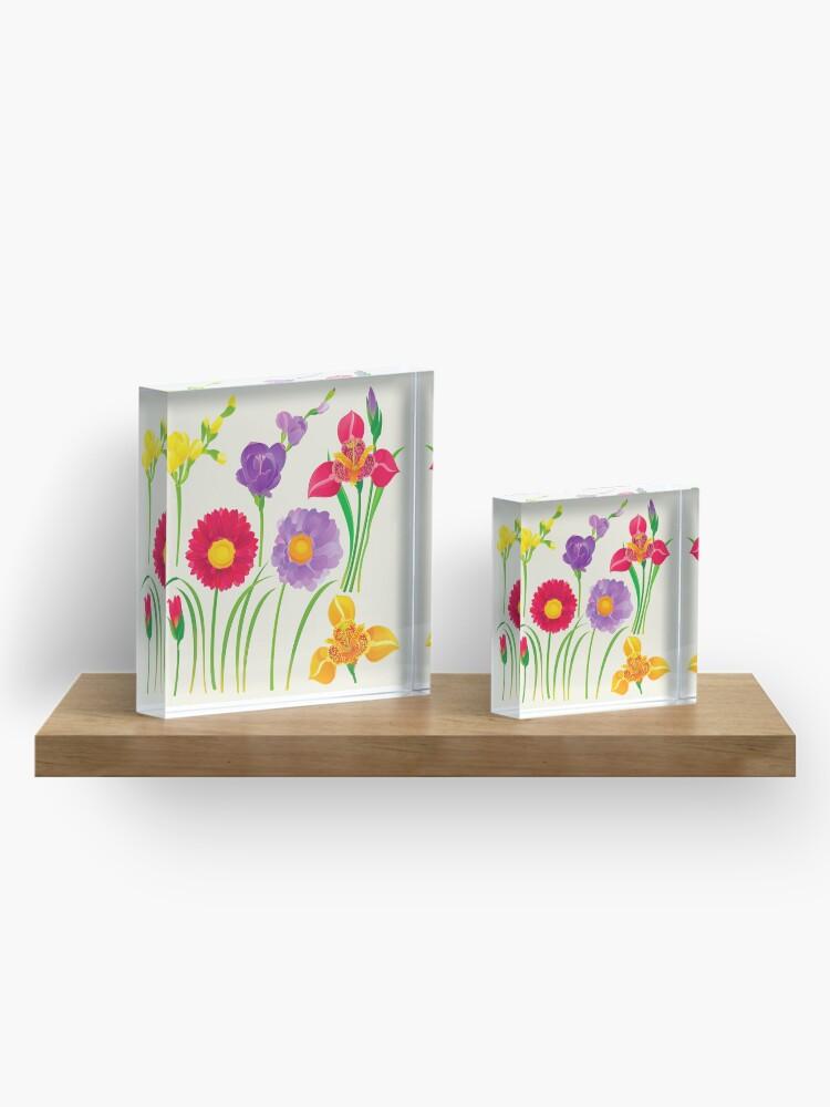Alternate view of Spring Flowers Acrylic Block