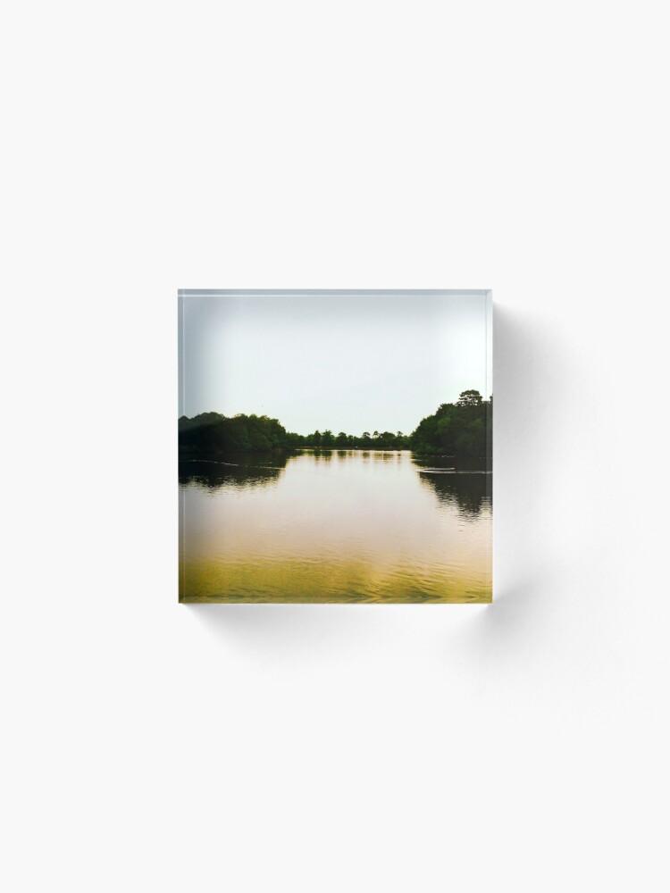 Alternate view of Lake Acrylic Block