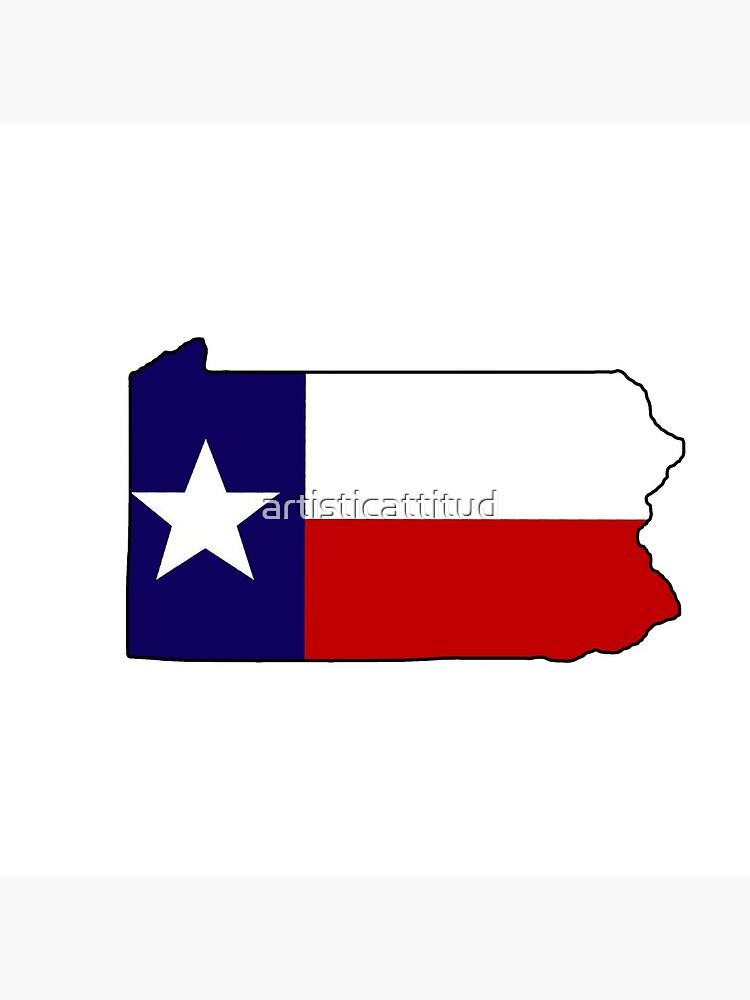 Texas Flagge Pennsylvania Gliederung von artisticattitud