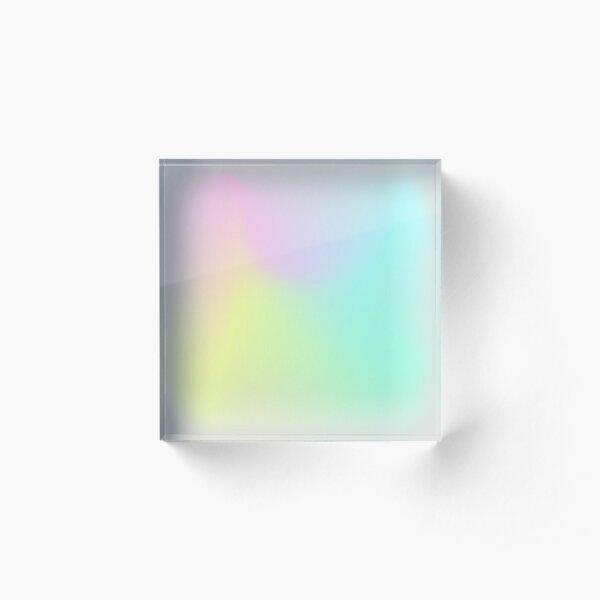 Holographic neon smog. Acrylic Block