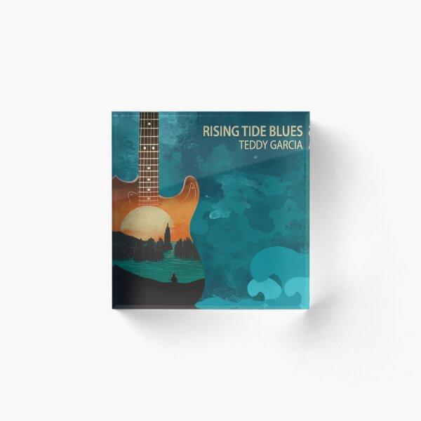 Rising Tide Blues - Aqua Acrylic Block