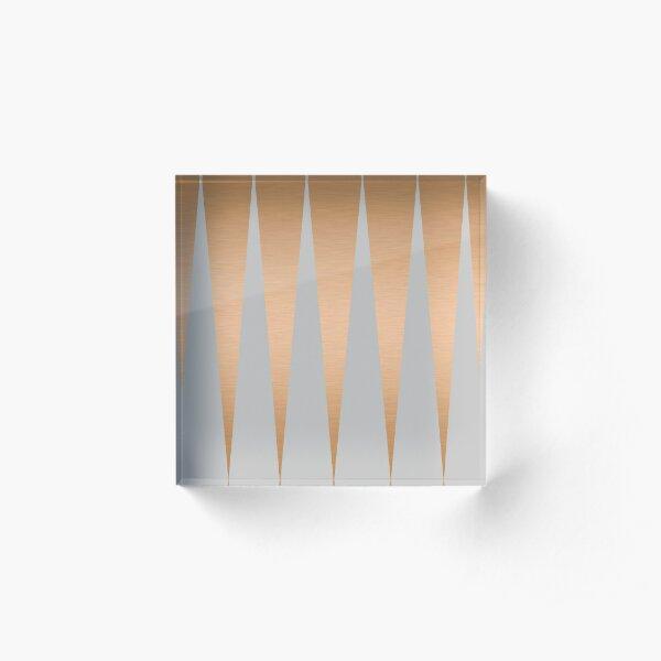 Shiny Copper Grey Spike Acrylic Block