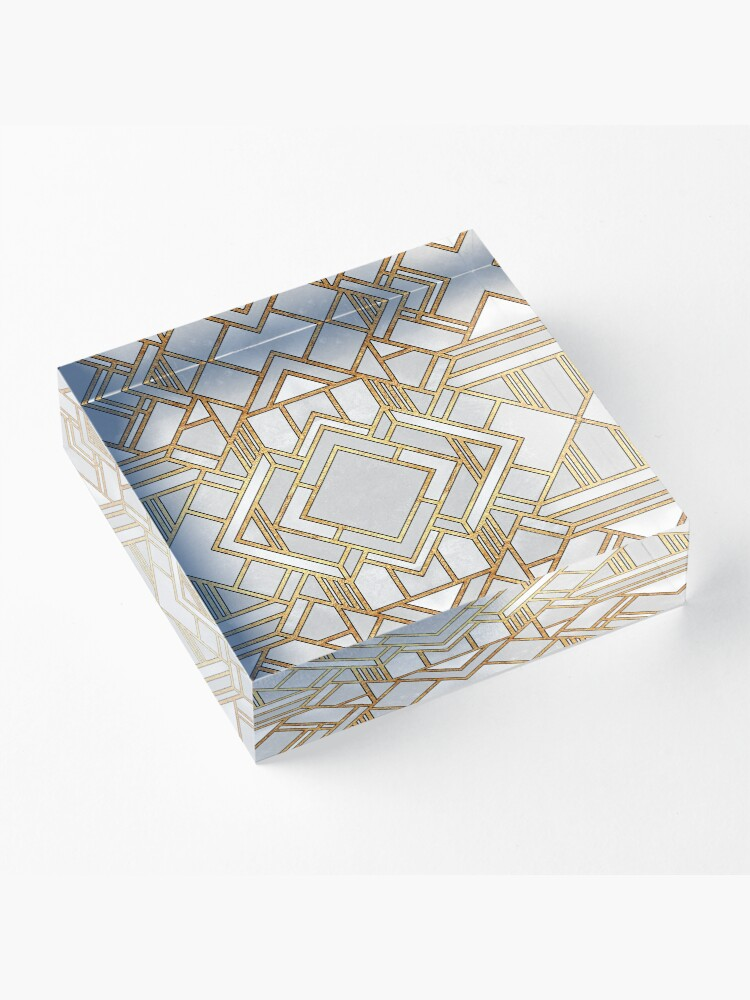 Alternate view of Art Deco 1 Acrylic Block