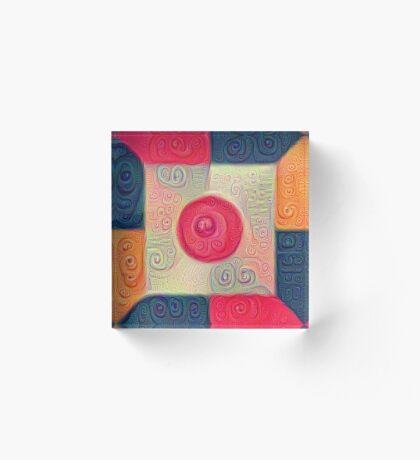 DeepDream Color Squares Visual Areas 5x5K v18 Acrylic Block