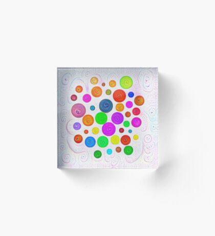 #DeepDream Color Circles Visual Areas 5x5K v1448374069 Acrylic Block