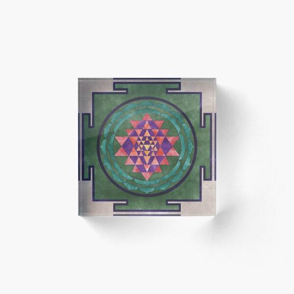 Sri Yantra 03 Acrylic Block