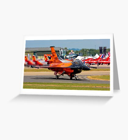 After a great display F16  AM Royal Netherlands . Greeting Card
