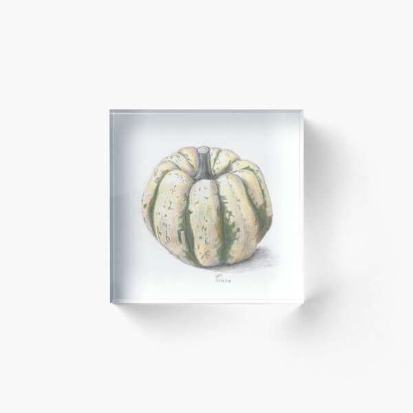 Sweet Dumpling Squash Acrylic Block