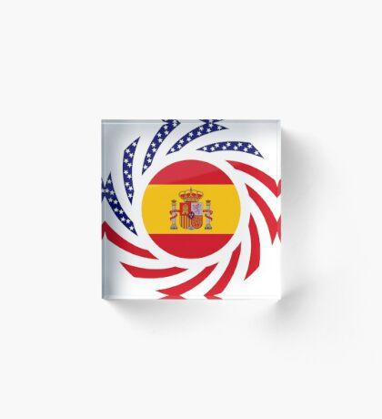 Spanish American Multinational Patriot Flag Series Acrylic Block