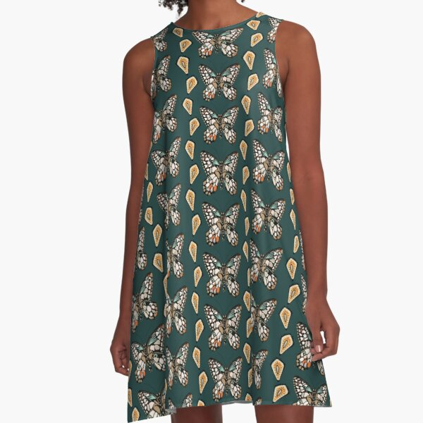 Mary's Butterfly Garden  A-Line Dress