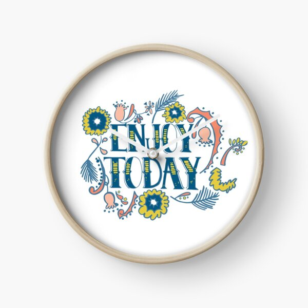 Enjoy Today (Navy)  Clock
