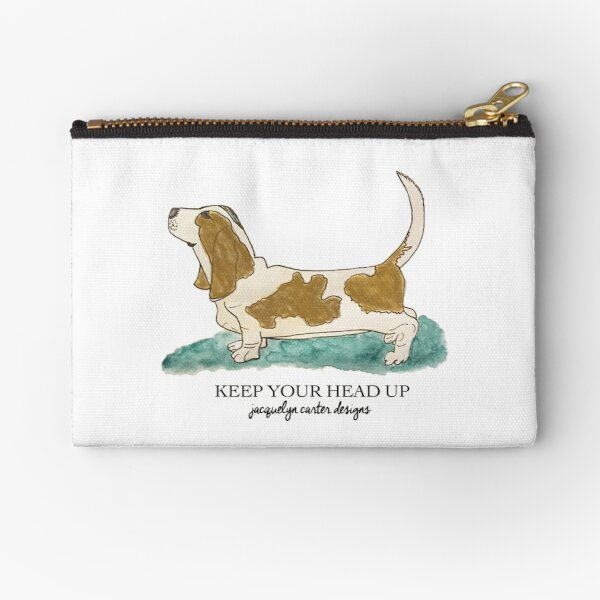 Keep Your Head Up Zipper Pouch