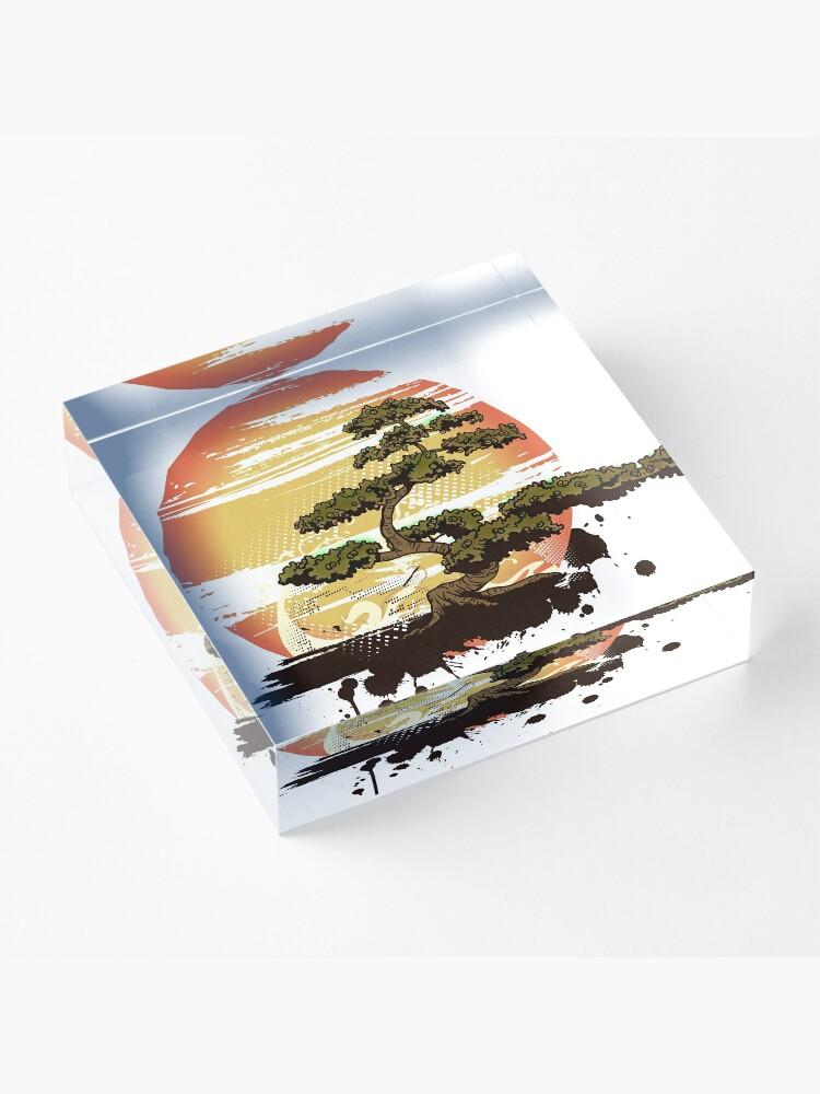 Alternate view of Bonsai Tree Karate Dojo Acrylic Block