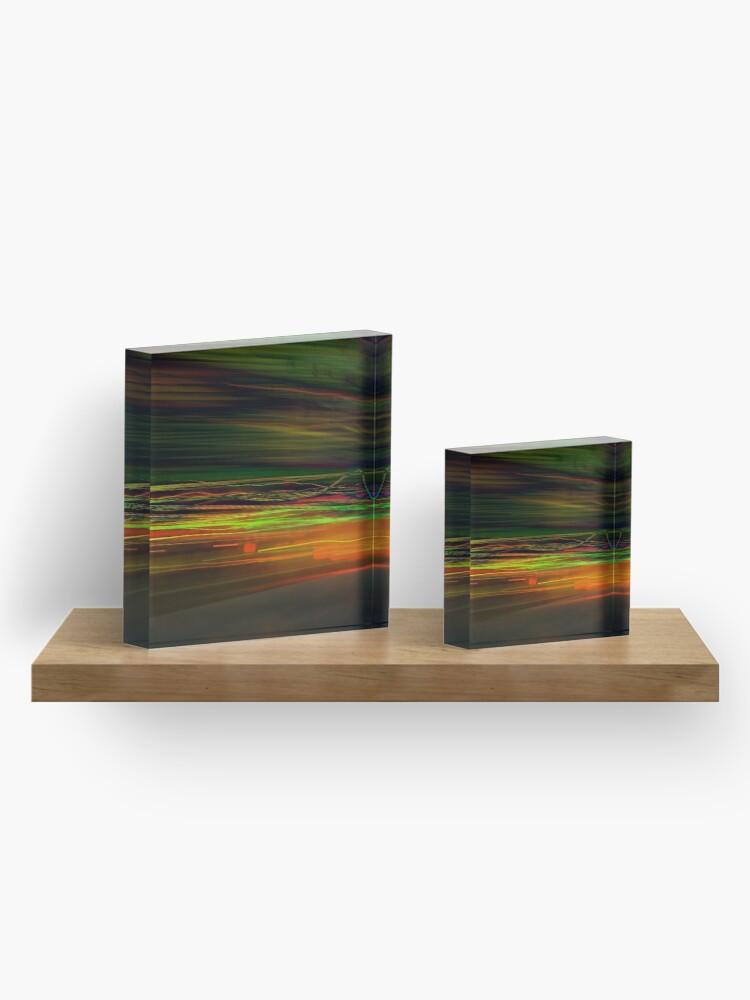 Alternate view of Fast Stripes Acrylic Block