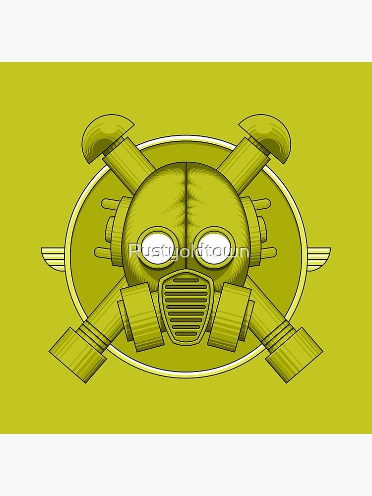 Art Deco Gasmask Combat Green de Rustyoldtown