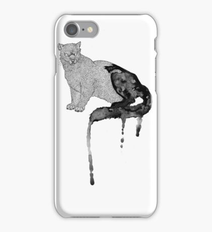 watercolour dipped Panther iPhone Case/Skin