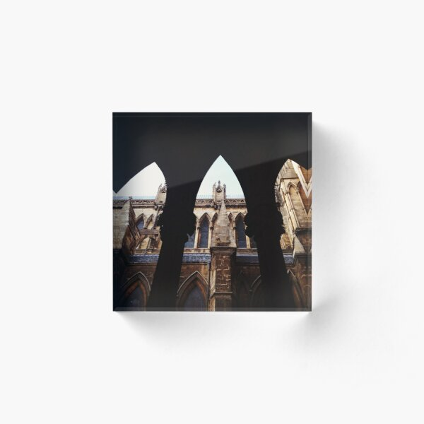Looking through the arches, Lincoln Cathedral Acrylic Block