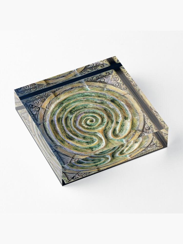 Alternate view of Spiral nine: toward center Acrylic Block