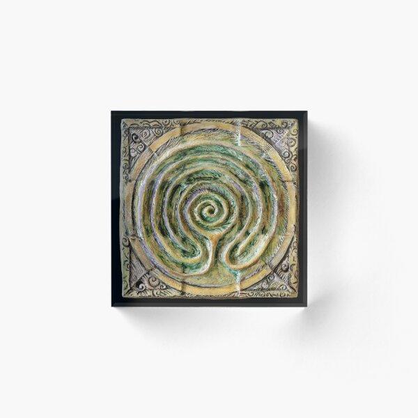 Spiral nine: toward center Acrylic Block