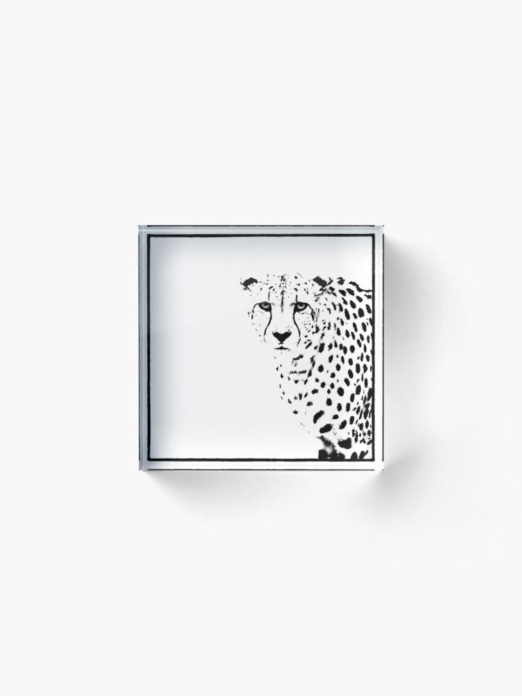 Alternate view of Cheetah Acrylic Block