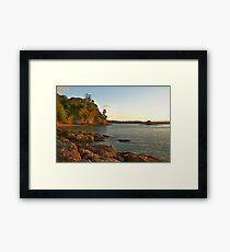 Russell Beach, Dusk Framed Print