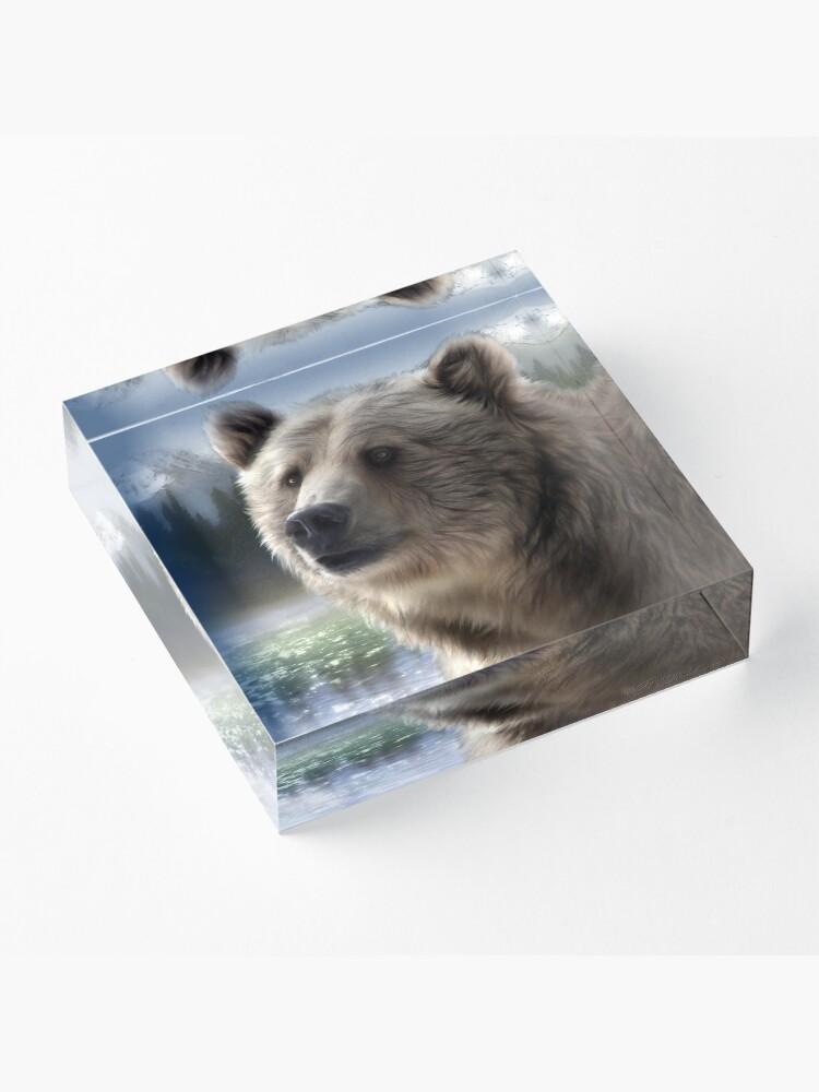 Alternate view of Spirit Bear Acrylic Block