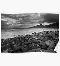 Stormy evening, Brooks Beach, North Queensland Poster