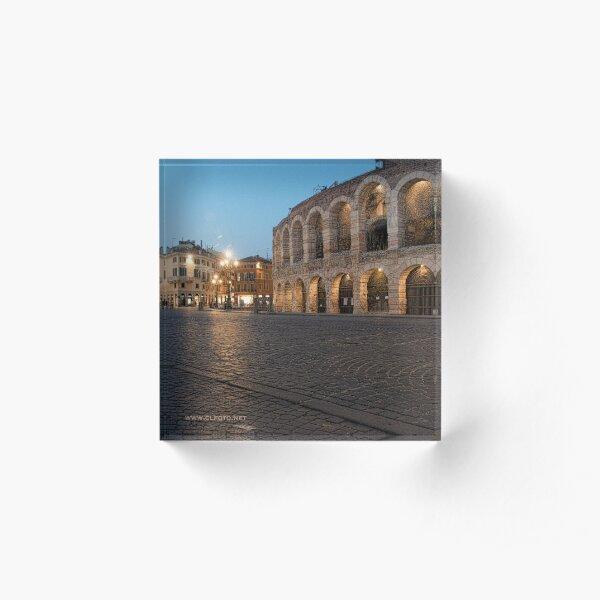 L'Arena, Verona, Italy Acrylic Block