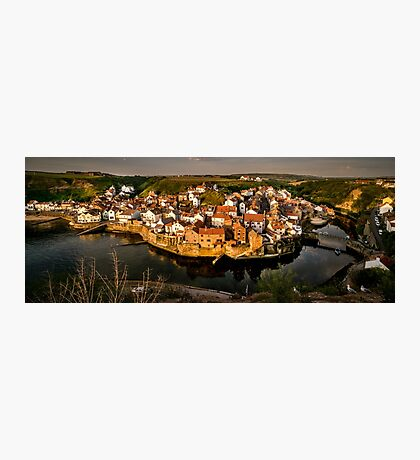 Staithes Village at Sunrise Photographic Print