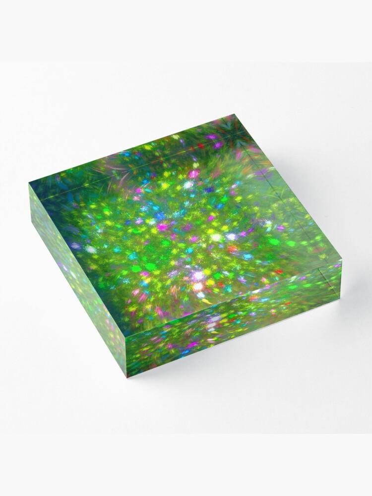 Alternate view of Summer #fractal art Acrylic Block