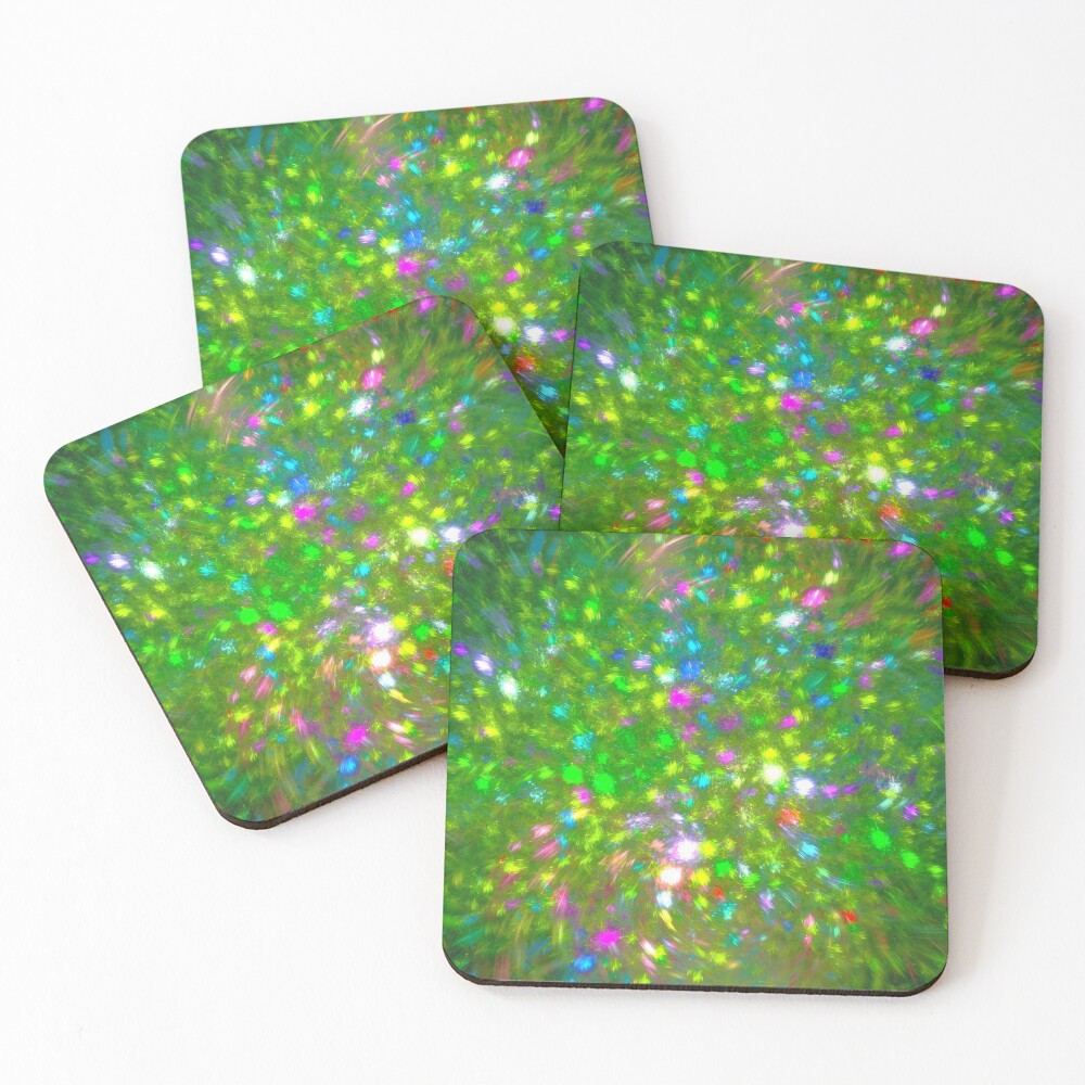 Summer #fractal art Coasters (Set of 4)
