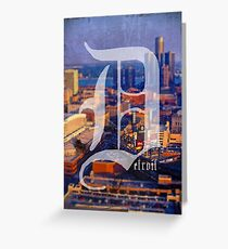 Detroit 1 More Time Greeting Card