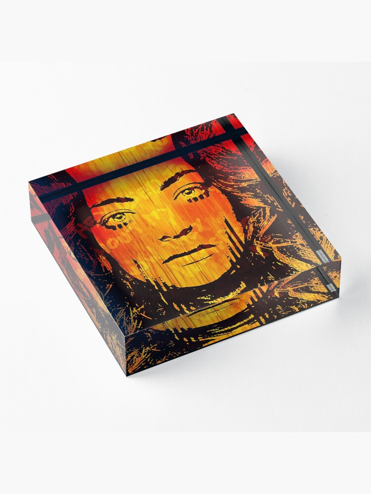 Alternate view of The Girl On Fire Acrylic Block