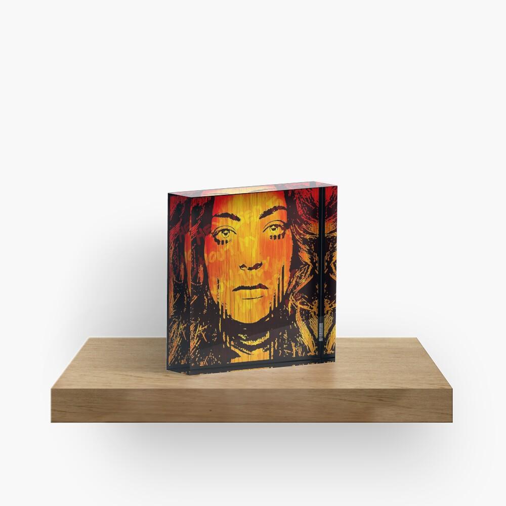 The Girl On Fire Acrylic Block
