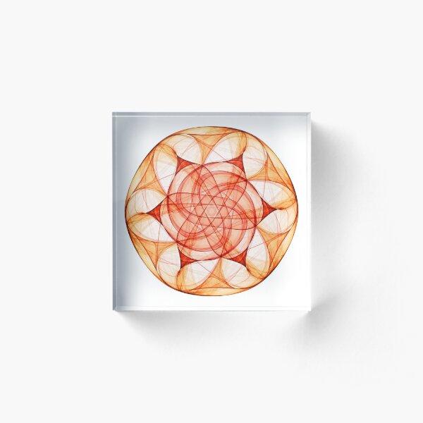 Wheel of Fire Acrylic Block