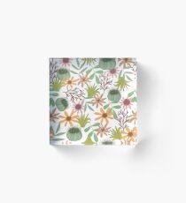 Bloque acrílico floral pattern exotik flowers