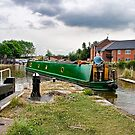 Canal Narrowboat at Ellesmere by Brian Tarr