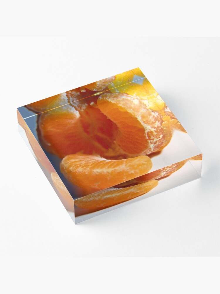 Alternate view of Mandarin take two Acrylic Block