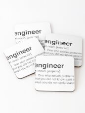 Funny Engineer Definition Coasters