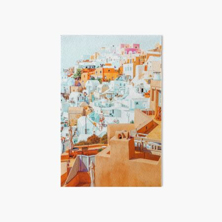 Santorini Vacay #photography #greece #travel Art Board Print