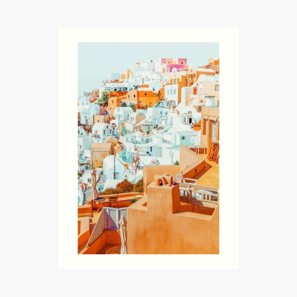 Santorini Vacay #photography #greece #travel Art Print