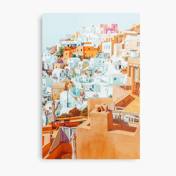 Santorini Vacay #photography #greece #travel Metal Print