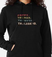 Poppy der Mann der Mythos das Legende-Vater-Geschenk Leichter Hoodie