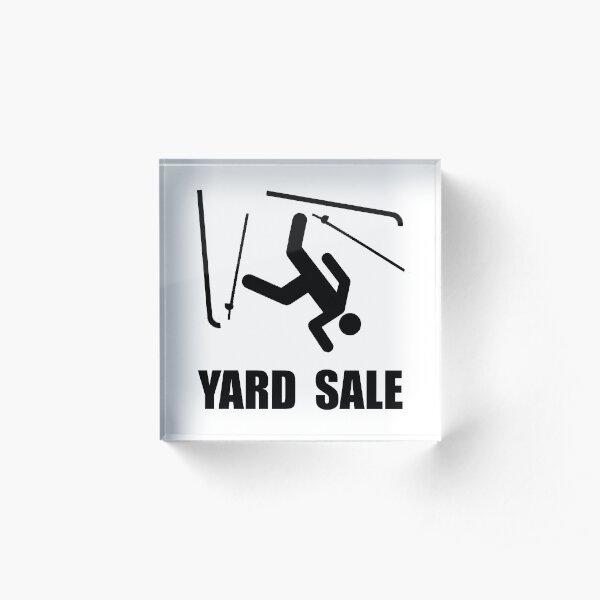 Ski Yard Sale Acrylic Block