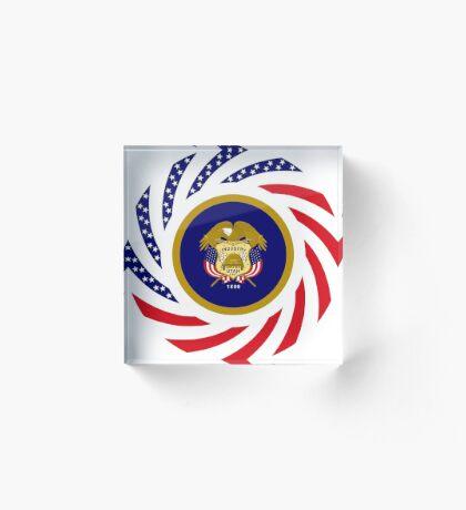 Utah Murican Patriot Flag Series Acrylic Block