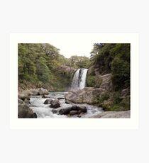 Tawhai falls Art Print
